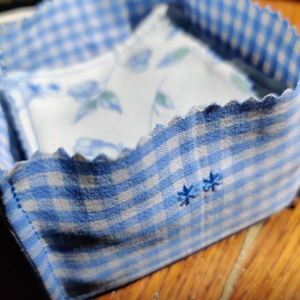 Coton réutilisable zéro déchet avec panière
