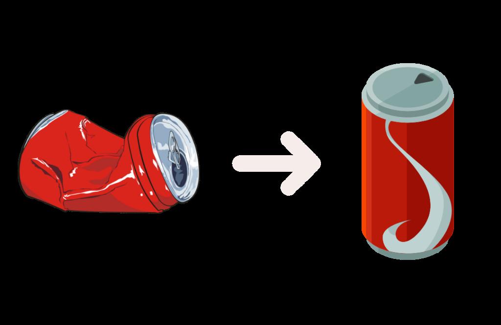 Recyclage canette aluminium